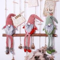 poupée cadeau achat en gros de-Gnome De Noël Cadeaux De Vacances Décoration Présent À La Main Rayé À La Main Tomte En Peluche De Table De Table Santa Figurines Ornements Belle