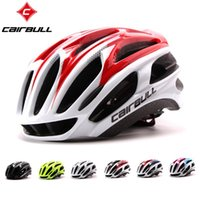 hava kaskları toptan satış-CAIRBULL yeni yumuşak bisiklet kask ultralight bisiklet kaskları EPS yekpare kalıplı bisiklet kask kafa Casque 29 hava çıkışları ile