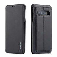 porta tarjetas galaxy s7 al por mayor-LC.IMEEKE para Samsung Galaxy S7 Edge S8 S9 S10 plus S10E 5G Note 8 9 Funda para teléfono Funda de lujo Cartera Flip Funda de cuero con soporte para tarjeta