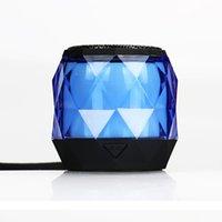 taşınabilir elmas ışıkları toptan satış-TWS BS02 Mini Bluetooth woofer Elmas Tasarım Taşınabilir Renkli Işık Açık Kablosuz Hoparlör Desteği Eller Serbest Çağrı Hediye