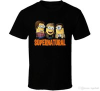 Wholesale minion printing for sale - Group buy Minion Supernatural Black Tee T Shirt