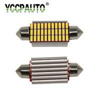 luzes led de ônibus venda por atacado-Desgraça luz YCCPAUTO C5W Doom Light Can bus Bulb 31 36 Led 39mm 42mm 4014SMD Auto Festoon Interior Leitura Trunk Lamp White 1 PCS