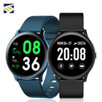hatırlatma bantları toptan satış-Samsung Ios için KW19 Smartwatch Bilezik Sağlık Tracker Band Ultra ince Çoklu Modlar Gerçek Zamanlı Mesaj Hatırlatma Uzaktan Kumanda Müzik Kamera