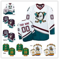 CCM Mighty Ducks Custom Stitched Retro Jersey mens youth Movie Jersey  vintga any name any number personalized hockey jerseys 7ed70d8b8