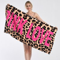 ingrosso asciugamani da bagno-Asciugamano da spiaggia 147 * 71cm Rosa Segreto Sexy Donna Estate Fitness Sport Asciugamani da bagno Asciugamani da bagno Mat