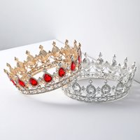 Wholesale designer bridal jewelry for sale - Group buy Baroque Queen King Bride Tiara Crown For Women Headdress Prom Bridal Wedding Tiaras and Crowns Hair Jewelry Accessories