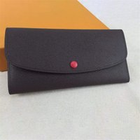 Wholesale womens long leather wallets resale online - luxury wallet designer wallet womens designer handbags purses clutch wallets leather designer purse card holder bags with box