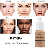 Wholesale mineral oil based resale online - High Quality Brand PHOERA Mineral Concealer Facial Base Cream Brighten Moisturizer Face Liquid Foundation Natural Makeup Primer maquiagem