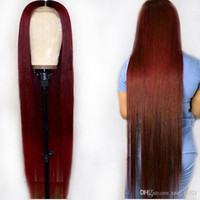 siyah kırmızı ombre saç toptan satış-