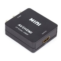 adaptador de proyector mini hdmi al por mayor-Mini AV a HDMI Video Converter Box AV2HDMI RCA AV HDMI CVBS a HDMI Adaptador para HDTV TV Proyector de Xbox