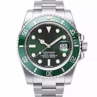 reloj de pulsera de reloj rojo led digital negro al por mayor-Reloj de lujo para hombre Reloj de hombre de calidad superior Reloj mecánico automático 40mm 116610 Impermeable 30 M Reloj de pulsera con zafiro
