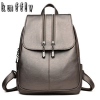2019 Women Leather Backpacks For Girls Sac a Dos School Backpack Female  Travel Shoulder Bagpack Ladies Casual Daypacks Mochilas 7d8dba2a39e6a