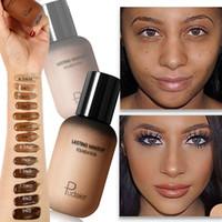 maquiagem facial para a pele escura venda por atacado-Rosto Fundação Creme Corretivo Cobertura Completa Base Mate Profissional de Maquiagem Pele Tom Corrector para Pessoas Negras da Pele Escura