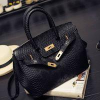 Wholesale black python bag resale online - 2019Luxury Handbag Women Bag Printed Snake Crocodile Skin Jelly Bag Tote Python Designer Purse Female Crossbody Shoulder Satchel