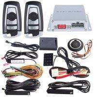 pke auto alarm push button start großhandel-EASYGUARD PKE Auto-Alarm-System-Hopping Code Fernstopp Push-Start-Taste berühren Passworteingabe-Sensor Alarm DC12V starten