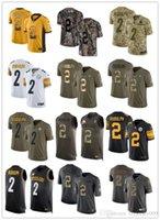 camisetas de rugby personalizados al por mayor-NCAA 2019 personalizado cualquier número numa mejor camiseta de rugby #Pittsburgh Steeler # 2 Mason Rudolph Dolphin hombres / MUJERES / JÓVENES FÚTBOL camisetas s-xxxxl