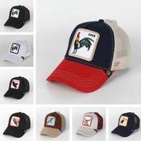 erwachsene sonnenblenden großhandel-Sommer Tierkappe Sonnenhut Hysteresen Luxus Designer Hüte Trucker Hat Stickerei Baseballmützen Erwachsene Hysteresen Herren Herren Visier