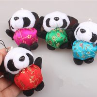 Wholesale chains hang clothes for sale - Group buy Cute Mini Plush Panda Keychain Charms Pendant Chinese Clothes Animal Hanging Accessory Women Child Gift Toy Key Chains lo