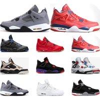 boule de massage rouge achat en gros de-2019 chaussures de basket-ball 4s Nero FIBA CE QU'EST LE Cool gris élevé SILT RED PURE MONEY WINGS 4 baskets de sport pour hommes taille 7-13