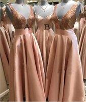 neue afrikanische kleider großhandel-Rose GoldPaillette Brautjungfernkleider für Afrika einzigartige Entwurfs-2019 neue volle Länge Hochzeit Gastkleider Junior Trauzeugin Kleid Günstige