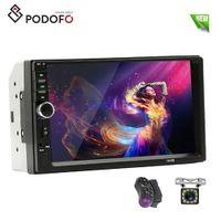 otomatik dvd oynatıcı usb toptan satış-Podofo 2 din Araba DVD Radyo Multimedya Oynatıcı Autoradio Stereo 7