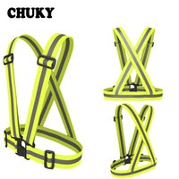 Wholesale safety reflective vest for running for sale - Group buy CHUKY Unisex Outdoor Reflective Vest Belt High Visibility Traffic Safety Vest Fit For Running Cycling Night Sports Portable
