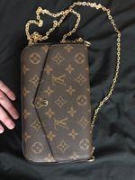 дизайнерские сумочки серый цветок оптовых-ACCESSOIRES M40712 Новые сумки из натуральной кожи, модные сумки на ремне, сумки Presbyopic, мини-кошельки, держатель для мобильных карт, кошелек M61276