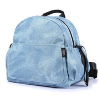 Wholesale nappy changing bags blue resale online - Fashion Large Capacity Baby Diaper Bag Stylish Stroller Backpack for Nappy Changing Blue Maternity Travel Baby Bag for Mother