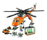 spielzeug stadt großhandel-Heißer 2017 New Bela 10439 273 stückearktis Helicrane City Set Hubschrauber Husky Kompatibel Baustein Spielzeug Für Kinder Y190606