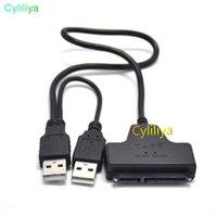 cabos sata hdd venda por atacado-USB 2.0 para SATA 7 + 15 Pin 22 Adapter Pin cabo para 2,5