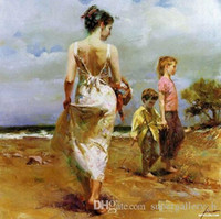 Wholesale famous impressionist paintings for sale - Group buy Famous Pino Happy time Handpainted HD Print Home Decor Wall Art oil painting High Quality Thick Canvas Multi sizes p183