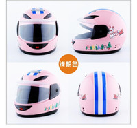 Wholesale helmet motorbikes resale online - pink children motocross ful face helmet motorcycle kids helmets motorbike childs MOTO safety headpiece
