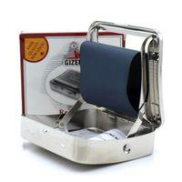 caixa automática da máquina de rolamento do rolo do cigarro venda por atacado-Nw chegada 70mm Metal Automático Cigarro Tabaco de Fumar Máquina de Rolamento Roller Box
