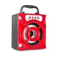 controle de volume do mini alto-falante bluetooth venda por atacado-Venda quente MS-132BT Mini Portátil Sem Fio Bluetooth Quadrado Speaker Suporte FM LED Shinning Cartão TF Música Tocando Controle de Volume