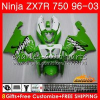 ninja r 1997 toptan satış-KAWASAKI NINJA ZX-750 ZX-7R ZX750 ZX 7R 96 97 98 99 28HC.0 ZX 7 R ZX 750 ZX7R 1996 1997 1998 1999 2000 Fairing Kit Sıcak Yeşil Siyah