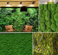 ingrosso tappeto erboso artificiale-100 x 100 cm micro paesaggio appendere muschio artificiale erba prato tappeto erboso fai da te mini fata piante da giardino decorazione della parete di casa