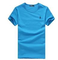 büyük kısa satış toptan satış-Sıcak Satış 2018 Yeni Polo Gömlek Erkekler Büyük küçük At timsah perry Nakış LOGO Büyük Boy Kısa Kollu Erkek Polo Gömlek bb5