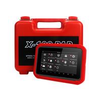 programador de código de auto clave al por mayor-X100 PAD OBD2 Auto clave programador del código de diagnóstico del escáner lector de IMMO Automotive EPB DPF BMS reinicio del odómetro EEPROM actualización en línea