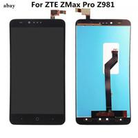 exibição do zte lcd venda por atacado-6 polegada lcd para zte zmax pro z981 1920x1080 display lcd + touch digitador de vidro assembléia peças de reposição