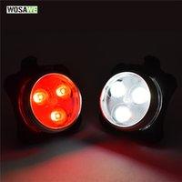 ingrosso usb della coda della bici-WOSAWE USB Ricaricabile Bike Light Super Bright Front Headlight 4 Modalità Rear LED Safety Warning Luce posteriore per bicicletta