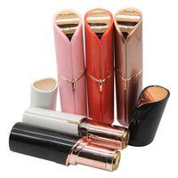 épilateur indolore achat en gros de-Rouge à lèvres visage épilateur visage épilation épilateur indolore 18K plaqué or Remover avec emballage de détail DHL livraison gratuite