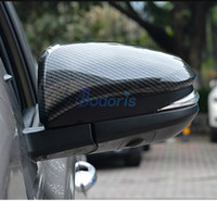 Wholesale accessories for rav4 for sale - For Toyota RAV4 Carbon Fiber Silver Color Door Mirror Overlay Rear View Cover Trim Panel Car Styling Accessories