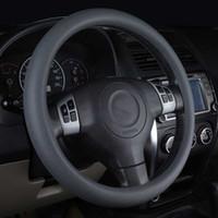 volantes de toyota al por mayor-Car Styling Silicona Volante Cubierta de guante Automóviles Ruedas del volante Accesorios para Honda Toyota BMW LADA KIA etc.