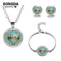 songda simple cute flamingo jewelry sets
