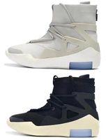 mittlerer schnitt stiefel schuhe großhandel-New Fear Of God 1 FOG Stiefel Light Bone Black Sail Herren Basketball Schuhe Weiß Grau Schwarz Gelb Sport Turnschuhe Mit Box