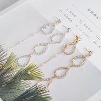 ingrosso pere placcate in argento-New Fashion Golden Silver Plated Ciondola pera pendente strass Orecchini pendenti lunghi per gioielli donna brincos bijoux E575