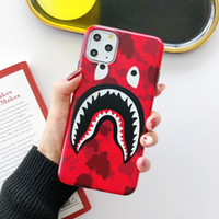 capas para iphone4 venda por atacado-designer de luxo boca de tubarão fosco caso tampa do telefone para iPhone 6 6s 7 8 8plus para iphone x xr xs máximo para iphone 11 11 pro 11 pro Max