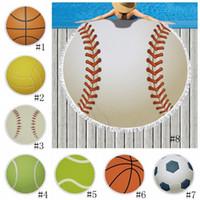 Wholesale tassel diy for sale - Group buy Round Sports Towel Baseball Football Beach Blankets Towels Summer Tassel Tapestry Polyester Bath Picnic Rugs Yoga Mat