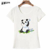 34566a16 Discount t shirt design panda - New Summer Cute Women T-shirt Panda in my