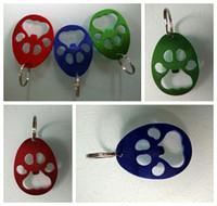 ingrosso bottiglie a forma di orso-Bear Paw Bottle Opener Key Chain zampa a forma di lega di alluminio della birra apri forniture portatile partito creativo favore FFA2855